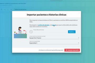 Clinni - Videotutoriales - 4.1. Importar y exportar pacientes