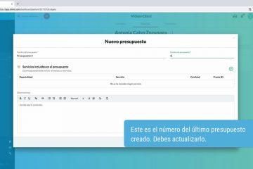 Clinni - Videotutoriales - 4.9. Crear y gestionar presupuestos
